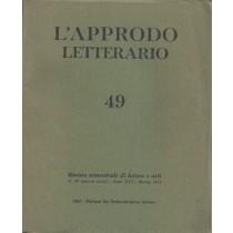 AA. VV., L'approdo letterario n. 49, Eri Edizioni Rai Radiotelevisione Italiana, 1970