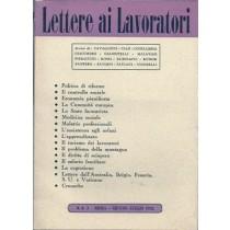 Rapelli Giuseppe (diretto da), Lettere ai lavoratori, numero 6 - 7 giugno - luglio 1952, Stabilimento Tipografico UESISA