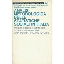 Analisi metodologica delle statistiche sociali in Italia, Edizioni di Comunità, 1973