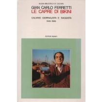 Ferretti Gian Carlo, Le capre di Bikini. Calvino giornalista e saggista 1945-1985, Editori Riuniti, 1989