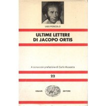 Foscolo Ugo, Ultime lettere di Jacopo Ortis, Einaudi, 1980