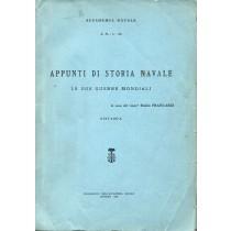 Francardi Emilio, Appunti di storia navale. Le due guerre mondiali, Poligrafico dell'Accademia Navale, 1965