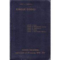 Franchi L., Cinque codici, Hoepli, 1936