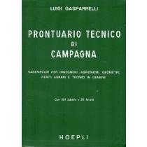Gasparrelli Luigi, Prontuario tecnico di campagna, Hoepli, 1975