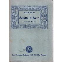 Giordani Pietro, Dagli Scritti d'arte, La Voce, 1924