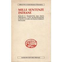 Pavolini Paolo Emilio (a cura di), Mille sentenze indiane, Sansoni, 1982