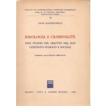 Radzinowicz Leon, Ideologia e criminalità, Giuffrè, 1968