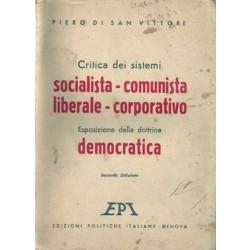 di San Vittore Piero, Critica dei sistemi socialista - comunista - liberale - corporativo, Edizioni Politiche Italiane, 1945