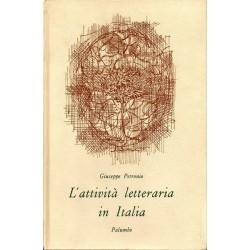 Petronio Giuseppe, L'attività letteraria in Italia, Palumbo, 1970